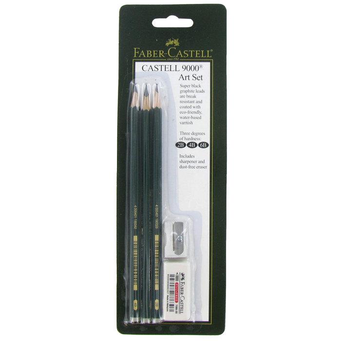 faber castell 9000 graphite pencils 3 piece set hobby lobby 527333